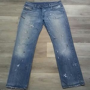 Diesel Women's Destroyed Painted Jeans